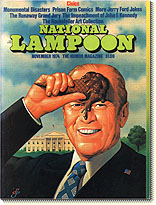 National Lampoon cover featuring Gerald Ford with an ice cream cone on his forehead